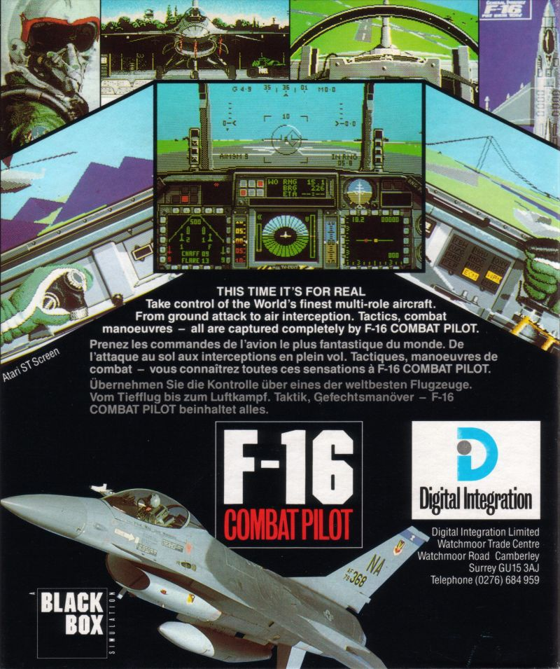 F-16 Combat Pilot ZX Spectrum Back Cover