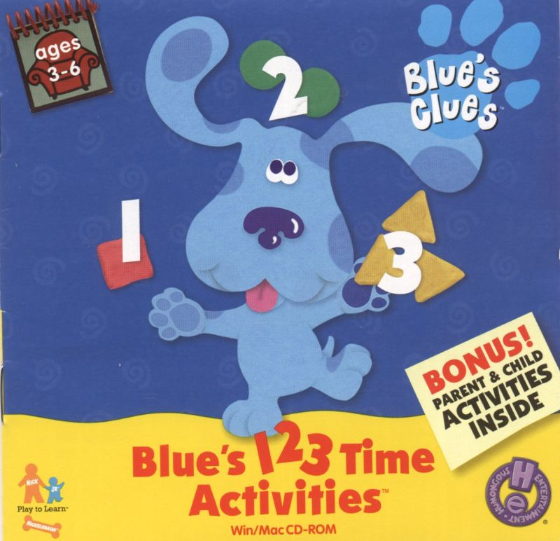 Blue's 123 Time Activities Macintosh Front Cover
