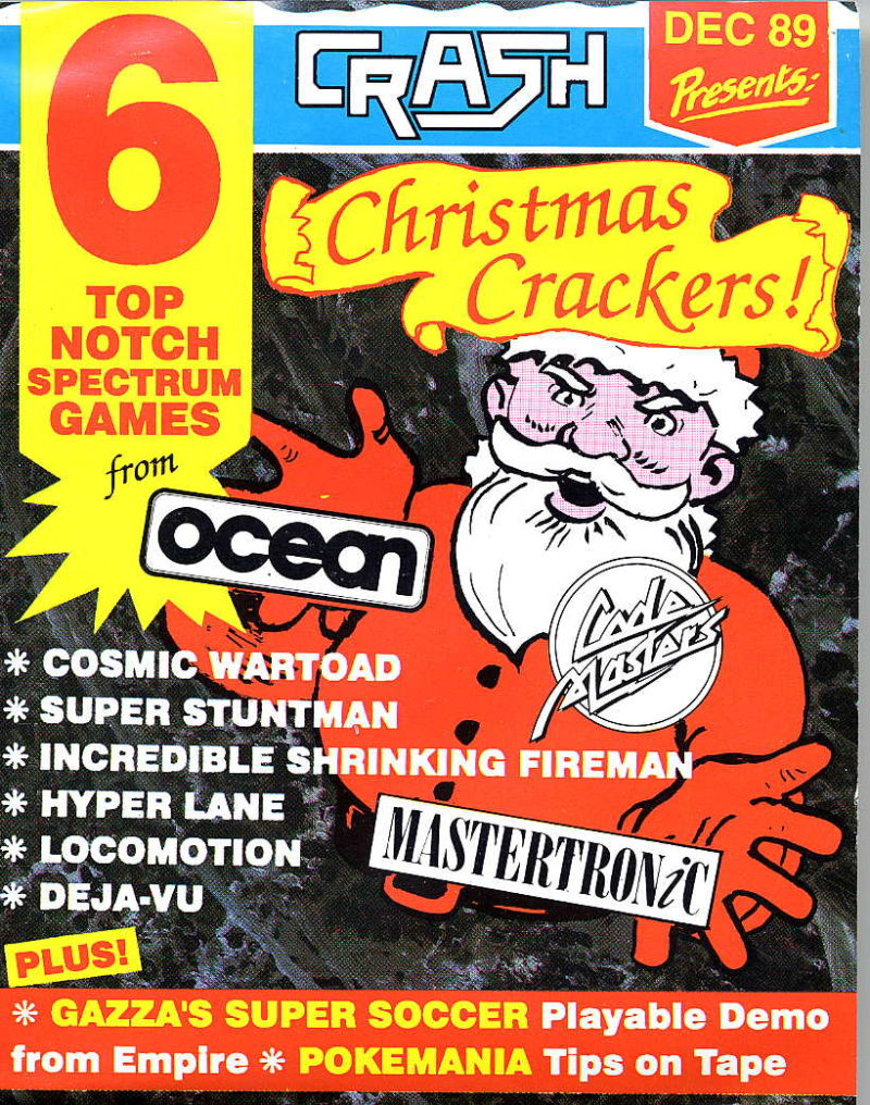 Crash Presents December 1989 ZX Spectrum Front Cover