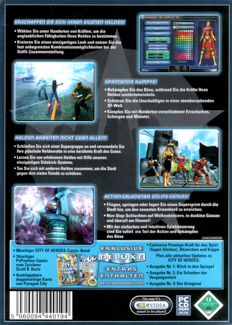 City of Heroes (Deluxe Edition) Windows Back Cover