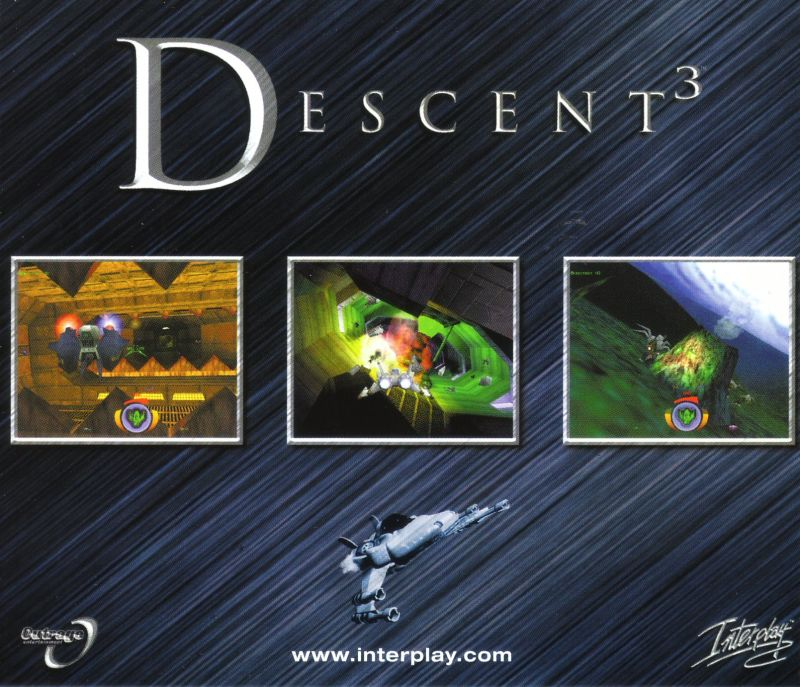 Descent³ Windows Other Jewel Case - Inside Back
