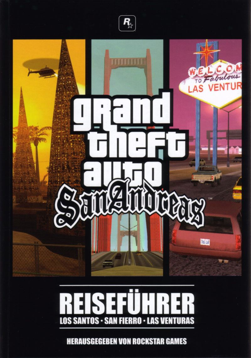 Grand Theft Auto: San Andreas Windows Manual Manual / Disc Holder - Front