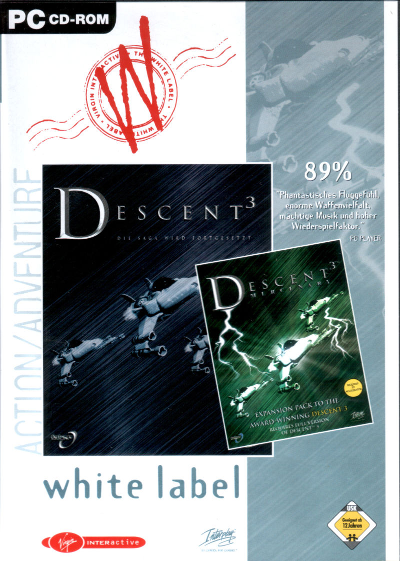 Descent³ / Descent³: Mercenary Windows Front Cover
