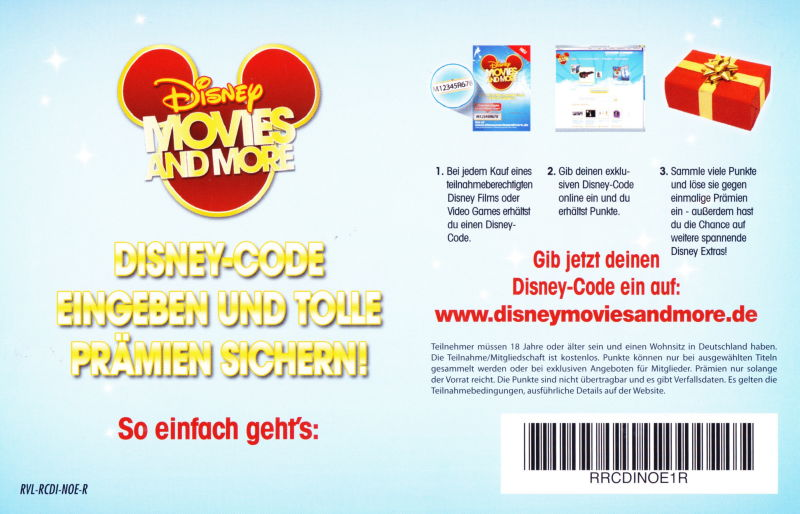 Disney Sing It: Family Hits Wii Extras Voucher - Back