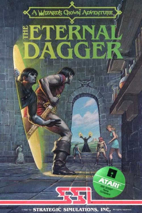The Eternal Dagger Atari 8-bit Front Cover