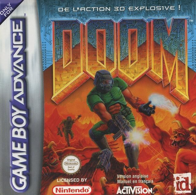 DOOM Game Boy Advance Front Cover