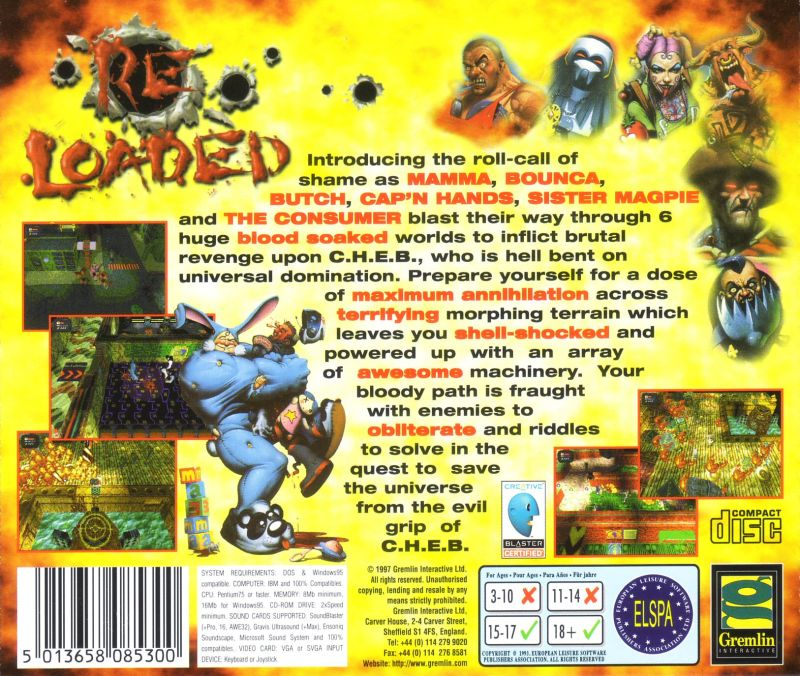 Re-Loaded DOS Other Jewel case back cover
