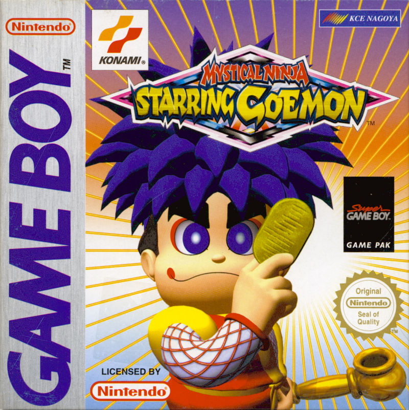 Mystical Ninja Starring Goemon Game Boy Front Cover