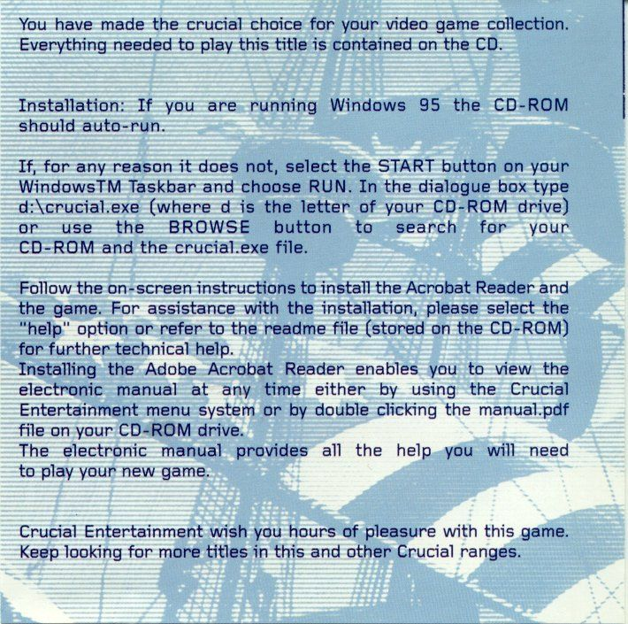 Sid Meier's Colonization DOS Inside Cover