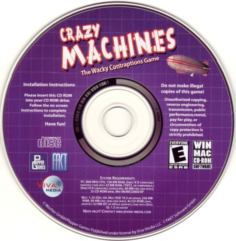 Crazy Machines: The Wacky Contraptions Game Macintosh Media