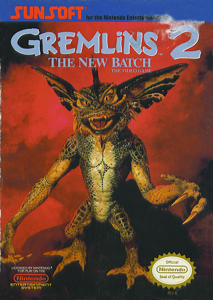 Gremlins 2: The New Batch NES Front Cover