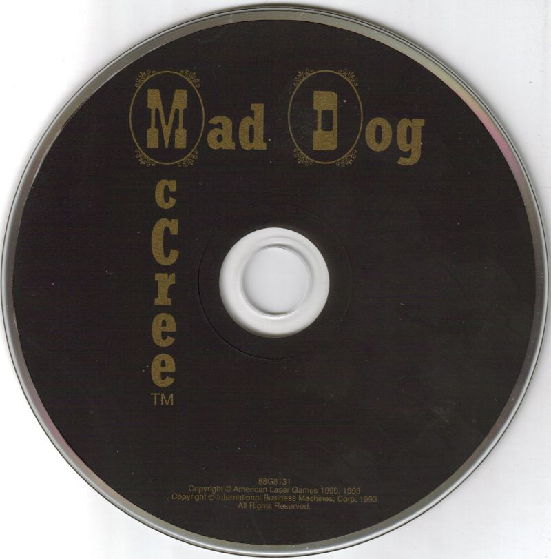 Mad Dog McCree DOS Media Free-with-computer CD