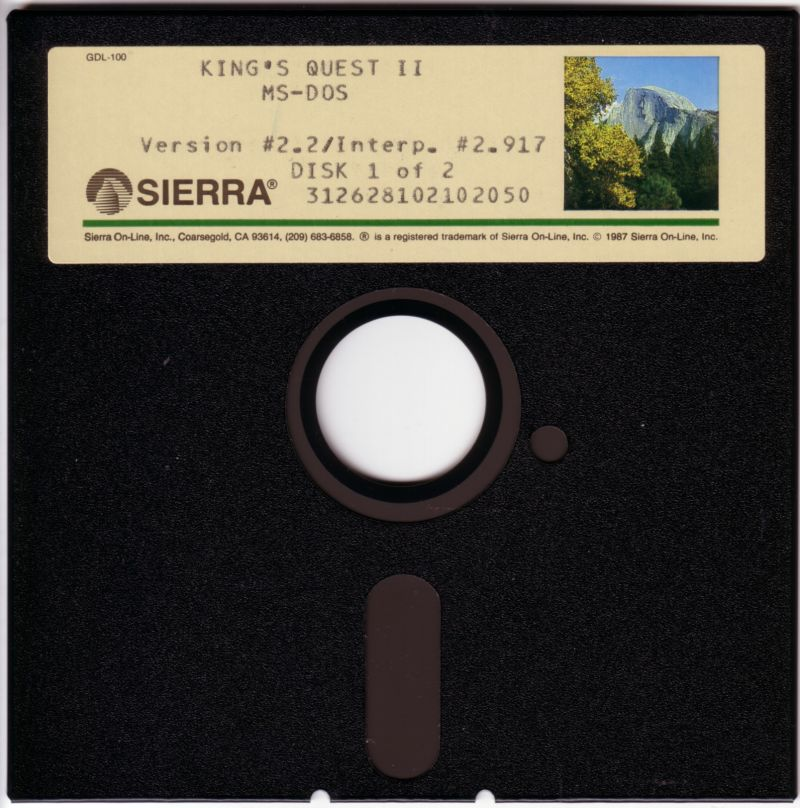 King's Quest II: Romancing the Throne DOS Media Disk 1/2
