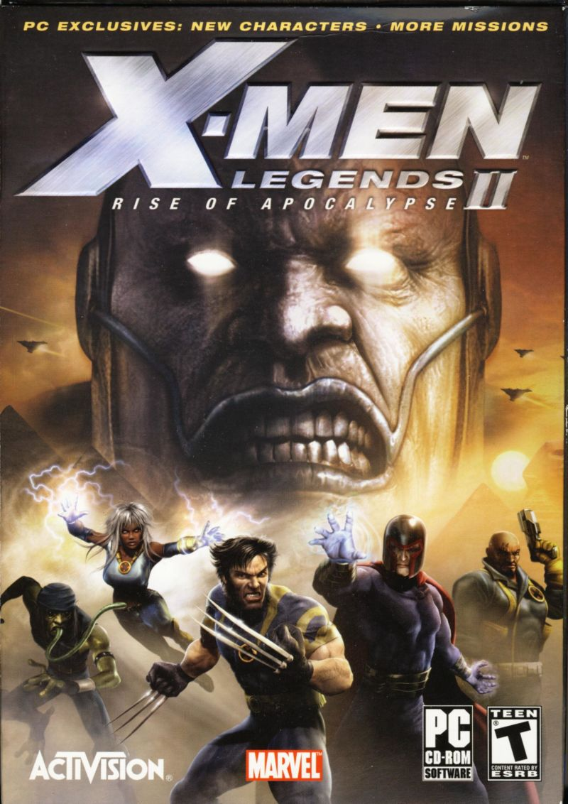 X-Men: Legends II - Rise of Apocalypse Windows Front Cover