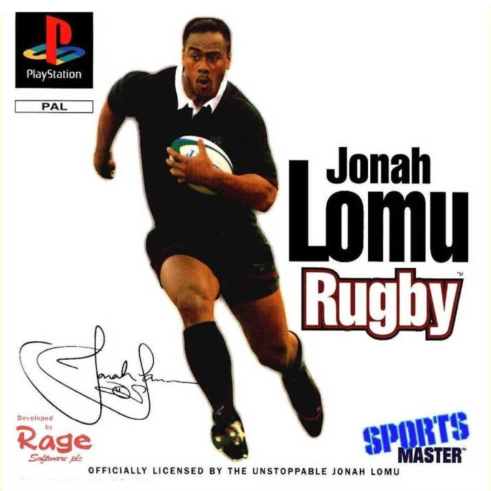 Jonah Lomu Rugby PlayStation Front Cover