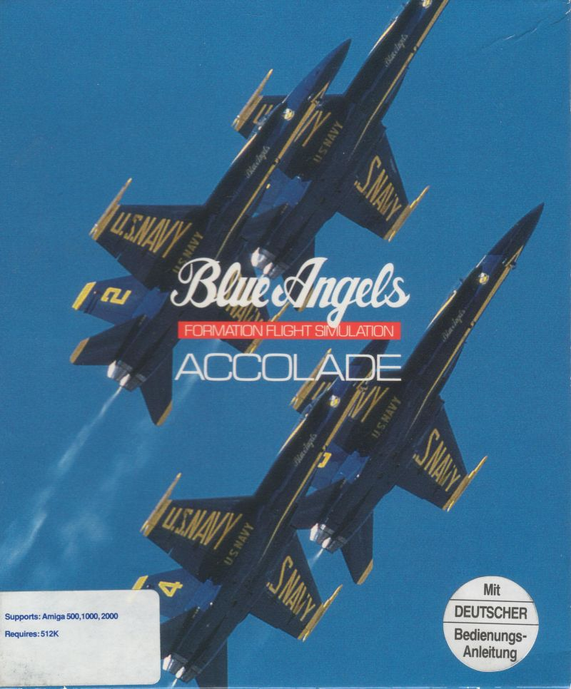 Blue Angels: Formation Flight Simulation Amiga Front Cover