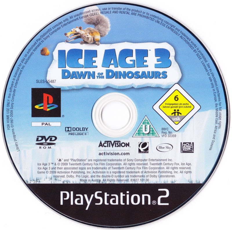 Ice Age Dawn Of The Dinosaurs 2009 Box Cover Art Mobygames