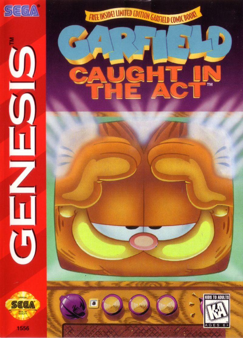 Garfield: Caught in the Act Genesis Front Cover