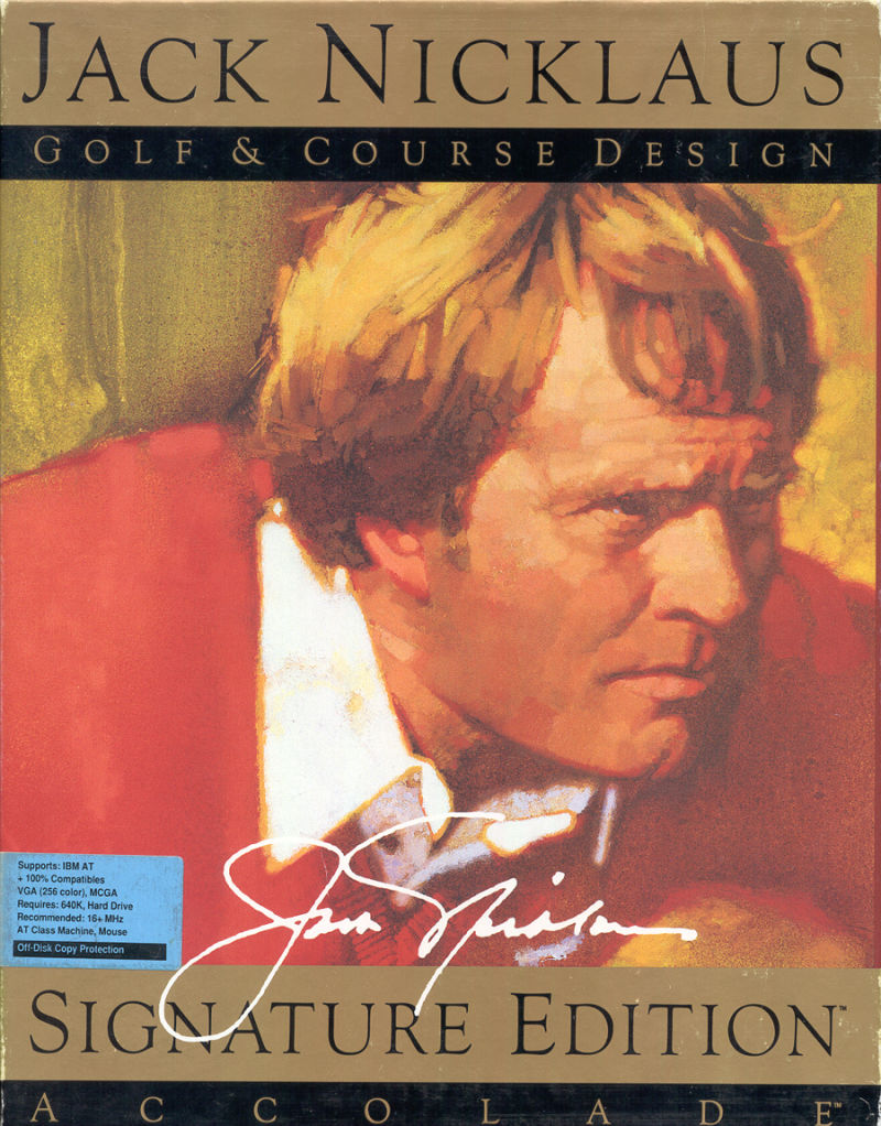 Jack Nicklaus Golf & Course Design: Signature Edition DOS Front Cover