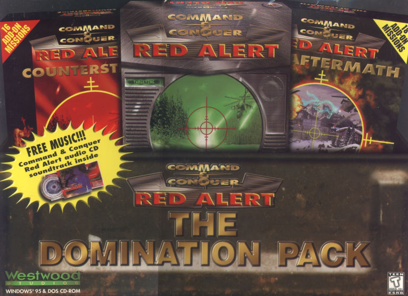 Command & Conquer: Red Alert - The Domination Pack DOS Front Cover