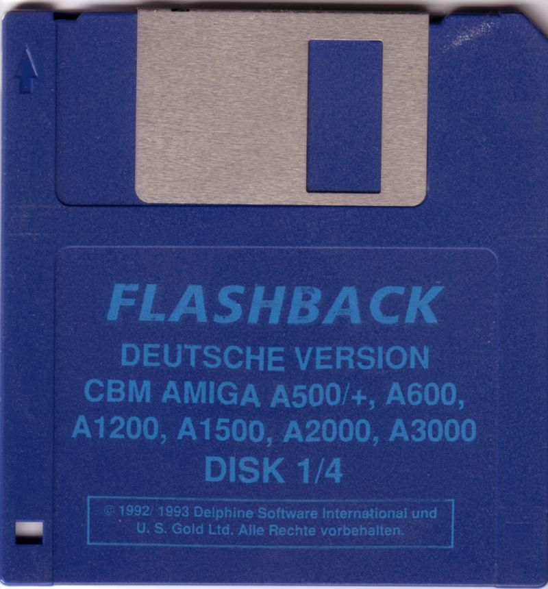 Flashback: The Quest for Identity Amiga Media Disk 1/4