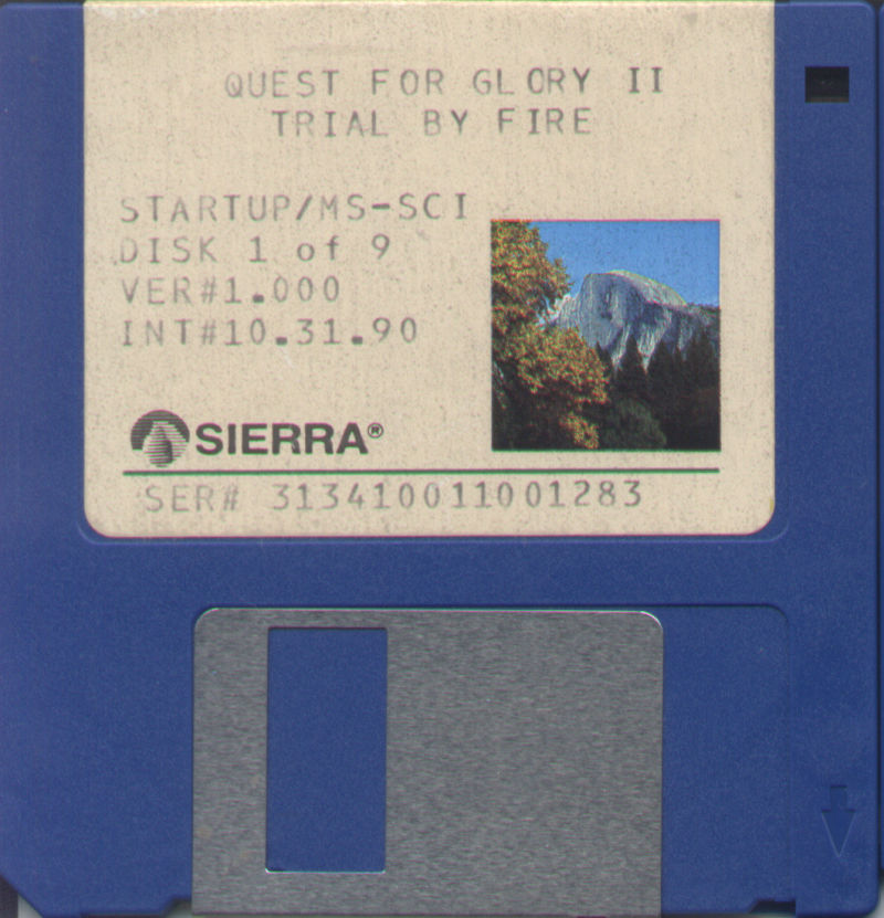 Quest for Glory II: Trial by Fire DOS Media Disk 1