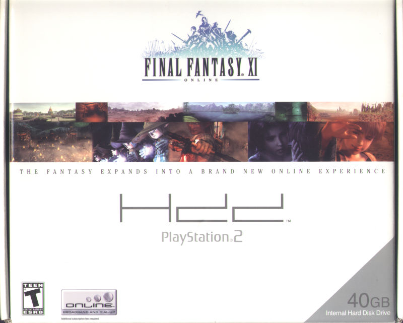 Final Fantasy XI Online PlayStation 2 Front Cover Box Front