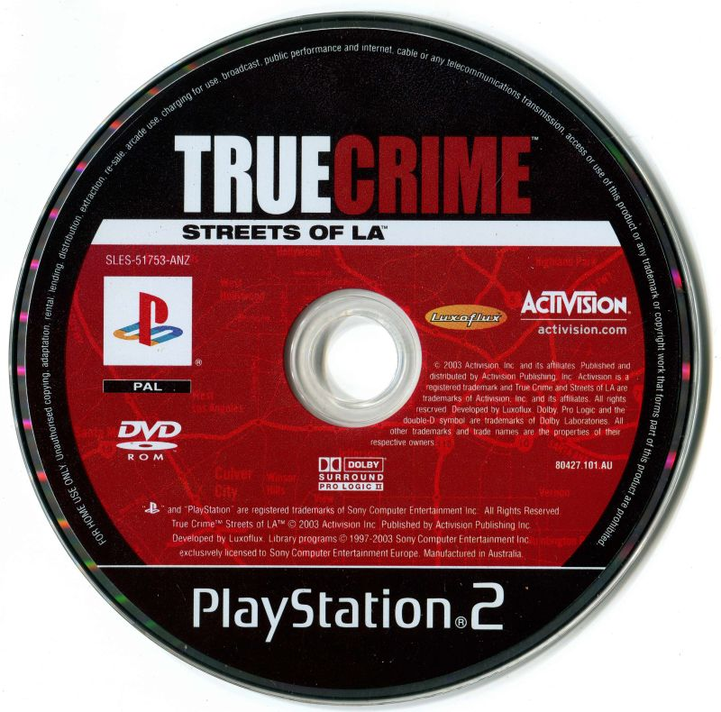True Crime: Streets of LA PlayStation 2 Media