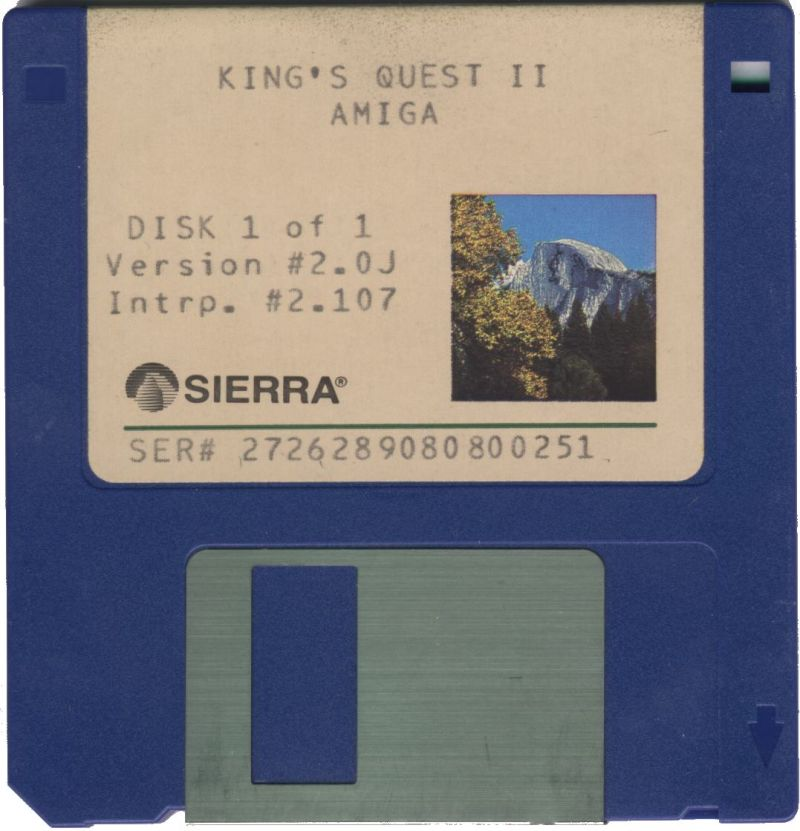 King's Quest II: Romancing the Throne Amiga Media