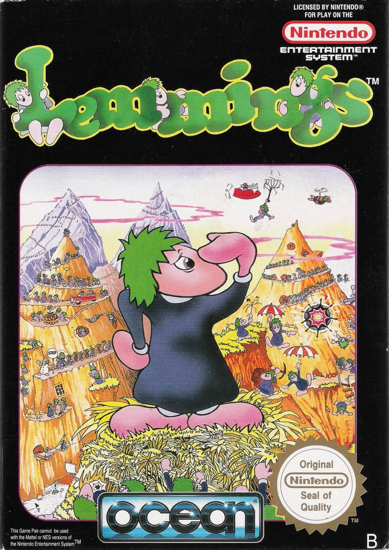 Lemmings NES Front Cover