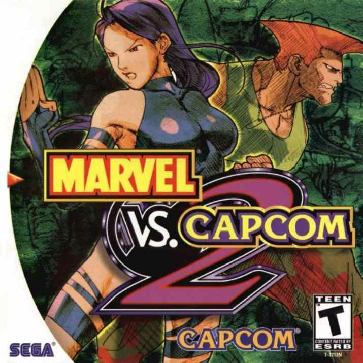 Marvel vs. Capcom 2 Dreamcast Front Cover