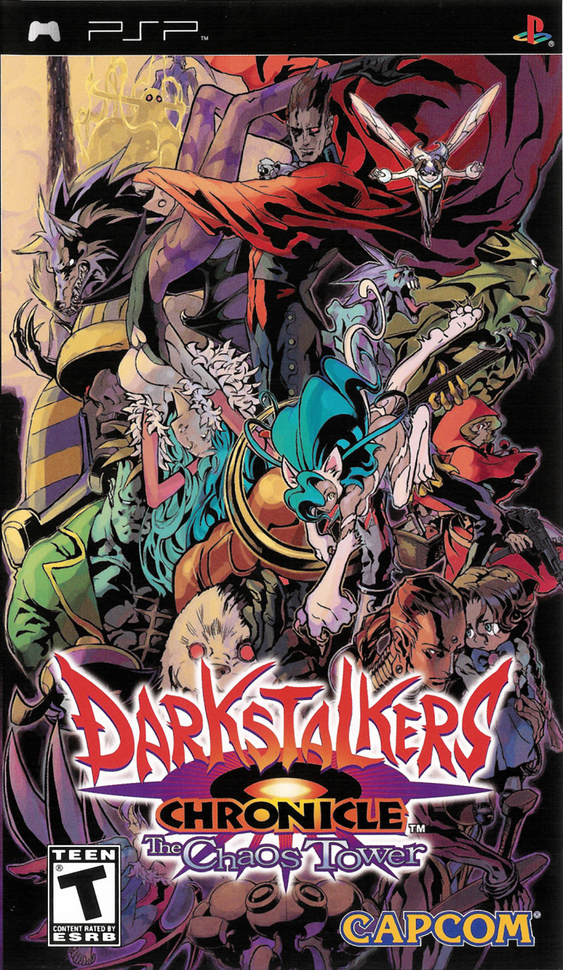 Darkstalkers Chronicle The Chaos Tower For Psp 2004 Mobygames