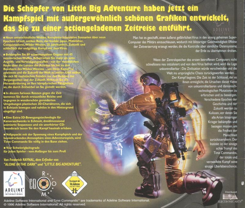 Time Commando DOS Other Jewel Case - Back