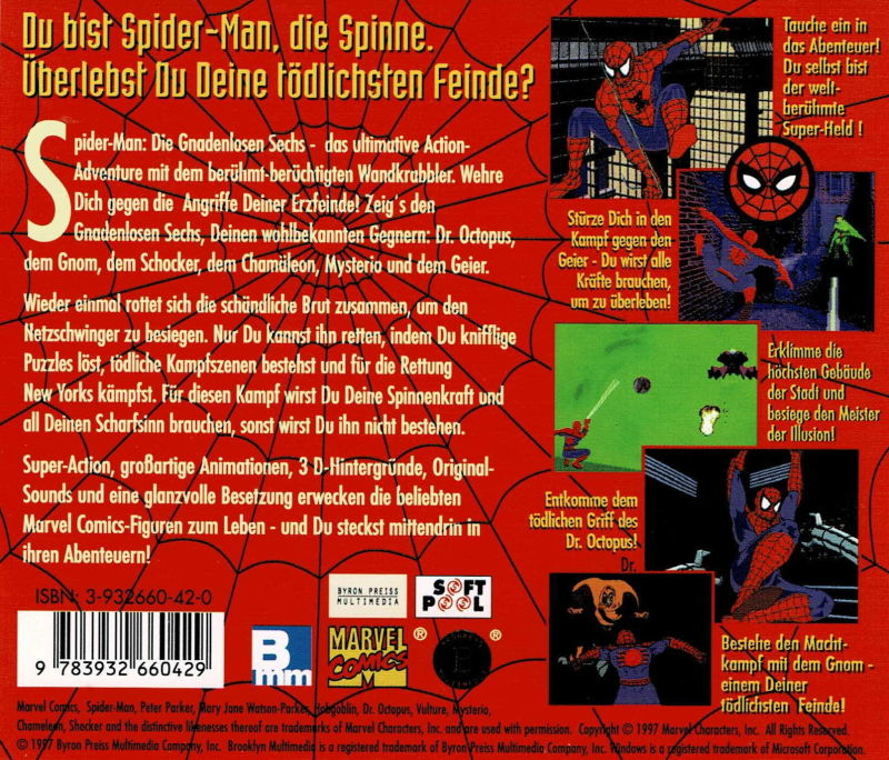 Marvel Comics Spider-Man: The Sinister Six DOS Other Jewel Case - Back