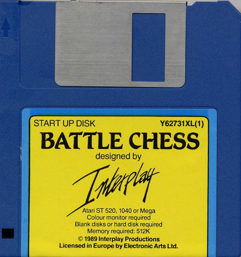 Battle Chess Atari ST Media