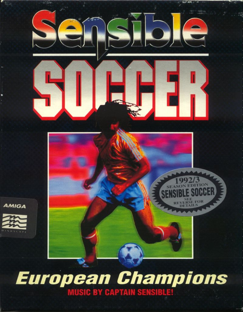 Sensible Soccer: European Champions - 92/93 Edition Amiga Front Cover