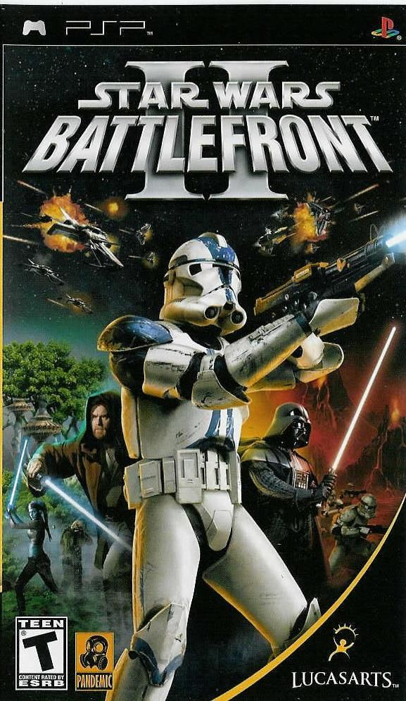 Star Wars: Battlefront II PSP Front Cover