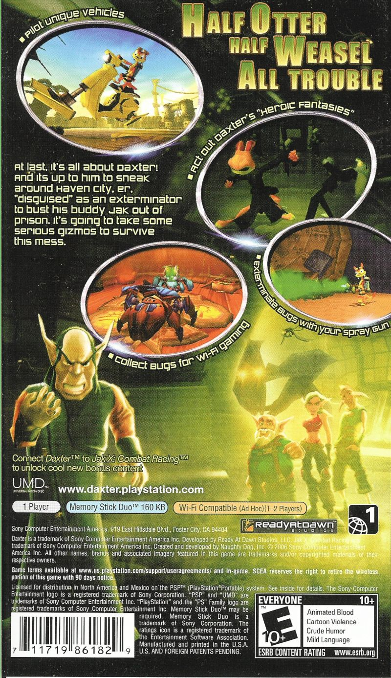 Daxter PSP Back Cover