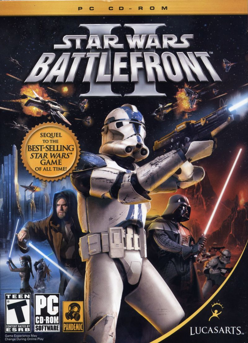 Star Wars: Battlefront II (2005) Windows box cover art