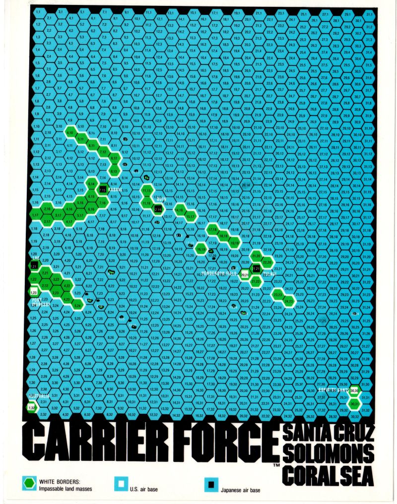 Carrier Force Commodore 64 Map