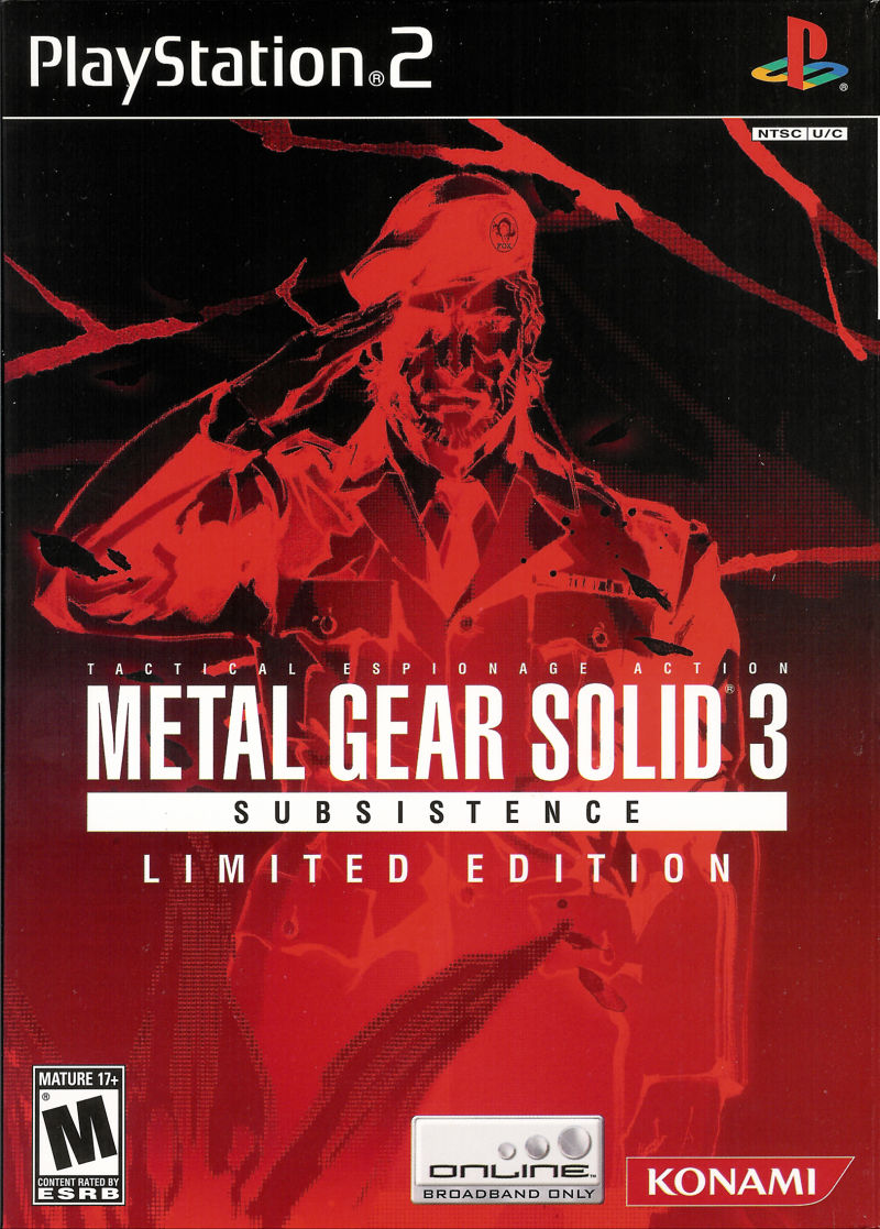 metal gear solid 3 subsistence limited edition 2005