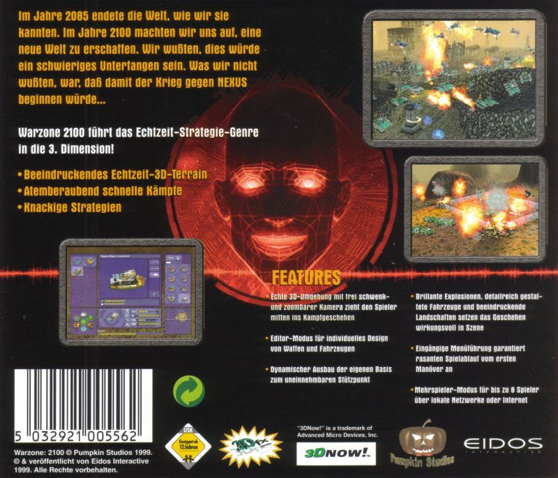 Warzone 2100 Windows Other Jewel Case - Back