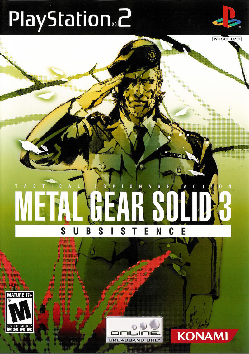 metal gear solid 3 subsistence 2005 playstation 2 box