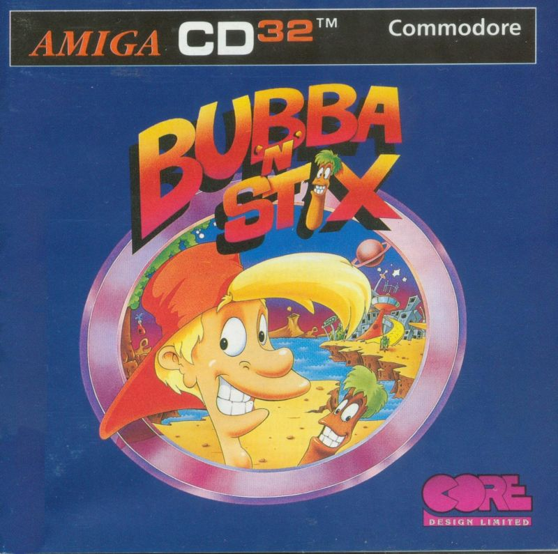 Bubba 'N' Stix Amiga CD32 Front Cover