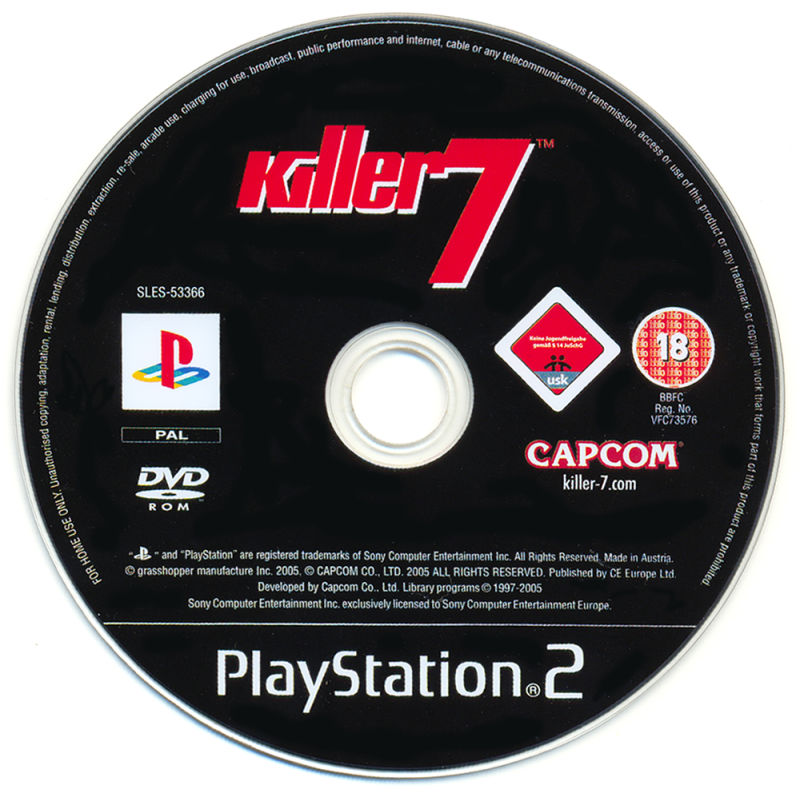 Killer7 PlayStation 2 Media