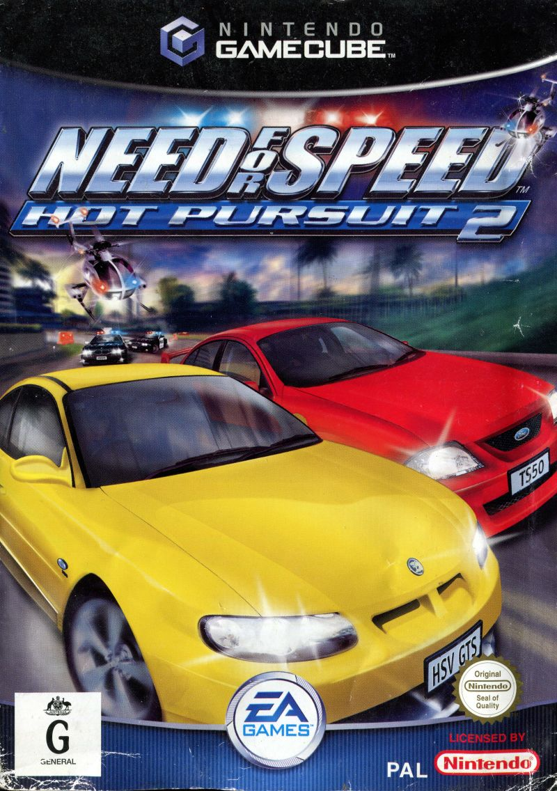 Need For Speed Hot Pursuit 2 2002 Gamecube Box Cover Art