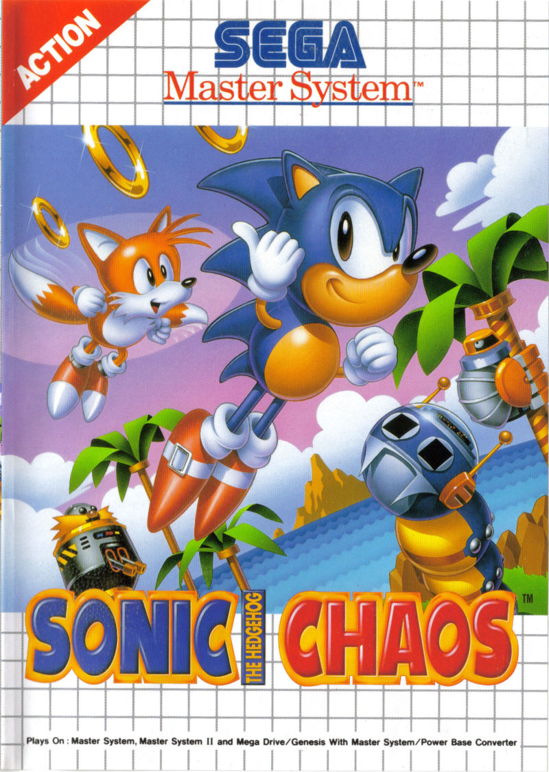 Sonic the Hedgehog Chaos SEGA Master System Front Cover