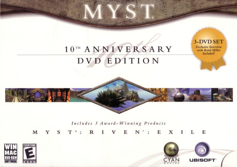 Myst: 10th Anniversary DVD Edition Macintosh Front Cover