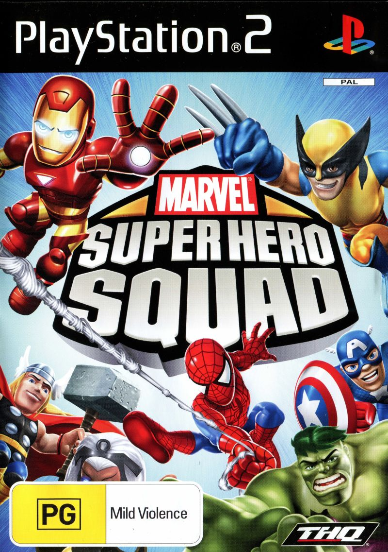 Marvel Super Hero Squad PlayStation 2 Front Cover