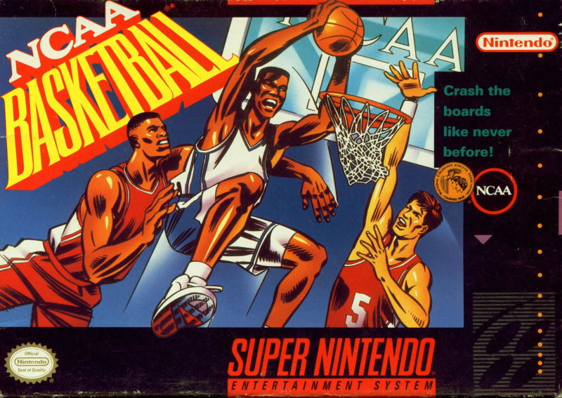 NCAA Basketball SNES Front Cover